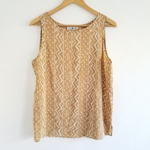 Vtg Real Clothes Saks Fifth Avenue Silk Tank Top M